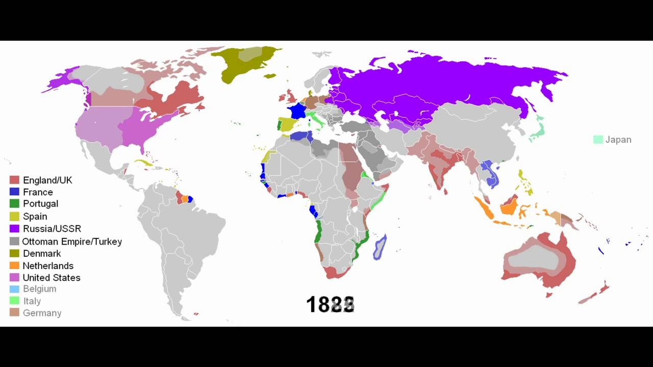 Map Of England France And Spain.European Colonial Empires 1492 2008 Youtube