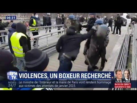 Le boxeur qui a roué de coups deux gendarmes samedi à Paris toujours recherché