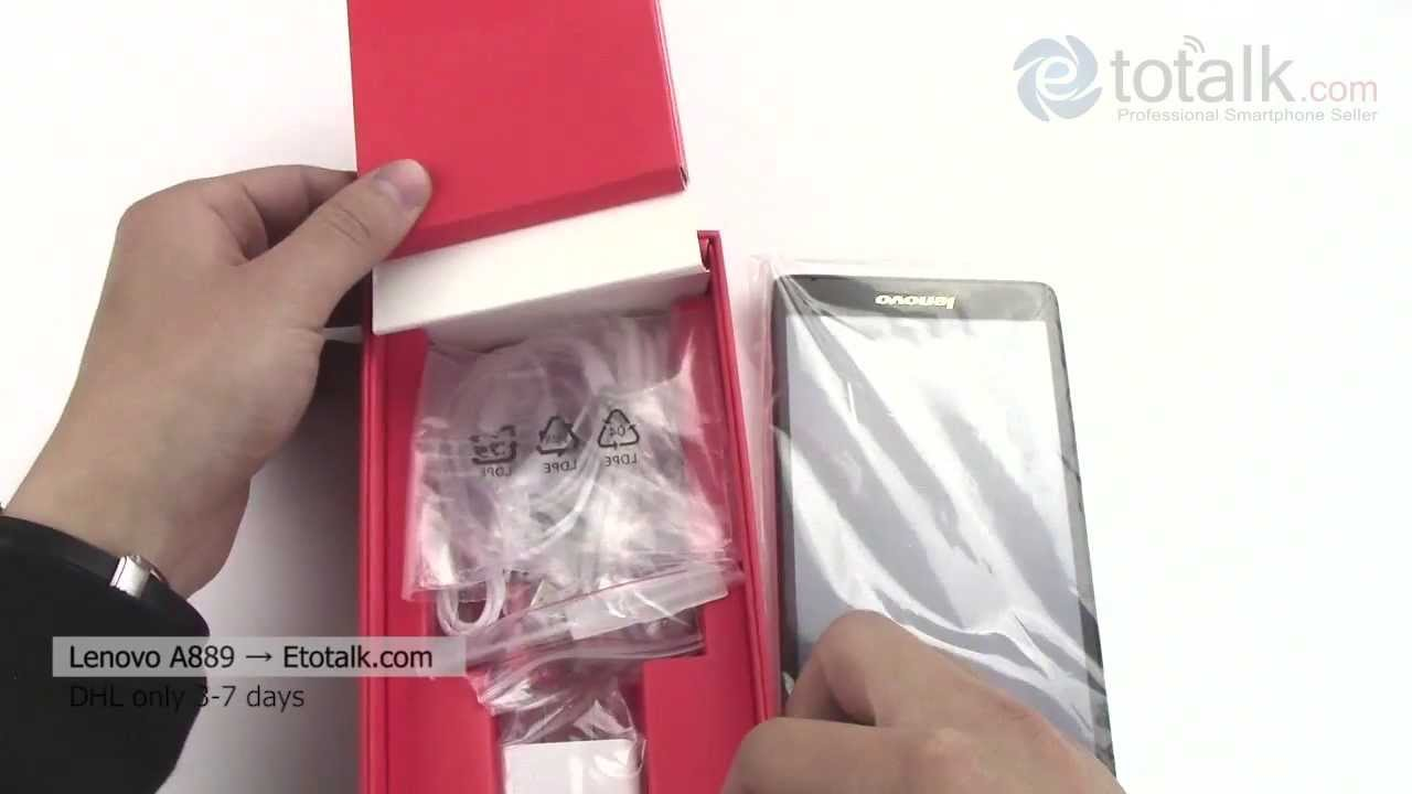 Lenovo A889 Unboxing Youtube