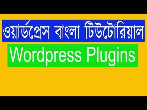 Wordpress Bangla Tutorial | Wordpress Plugins Menu thumbnail