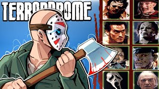 JASON VOORHEES IS THE HORROR KING! - Terrordrome (Fighting Game) Part 1