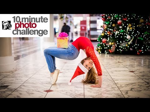 Buying Christmas Gifts For Child In Need (Anna And Lilly 10 Minute Photo Challenge)
