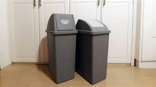 실외용 실내용 100리터 쓰레기통 비교