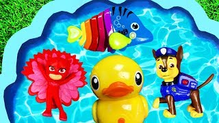 Learn Colors with Animals, Ducks, Pj Masks, Paw Patrol and Disney Princesses for Children