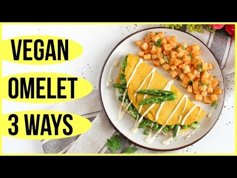 HOW TO MAKE VEGAN OMELETTE PIZZA