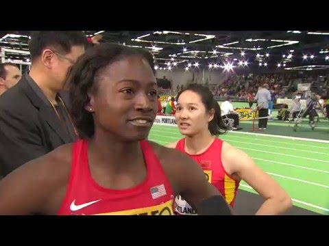 IAAF WIC Portland 2016 - Tori BOWIE USA 60m W ROUND 1