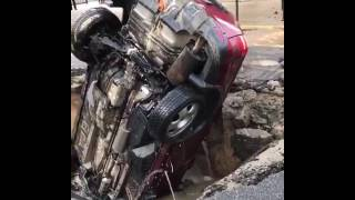 vehicle pulled from hoboken sinkhole caused by water main break