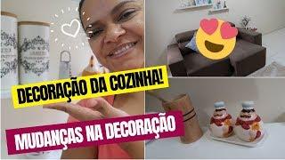 DECORAÇÃO da SALA dicas das inscritas| TOUR pela cozinha da casa nova!