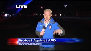 APD protest continues into the night