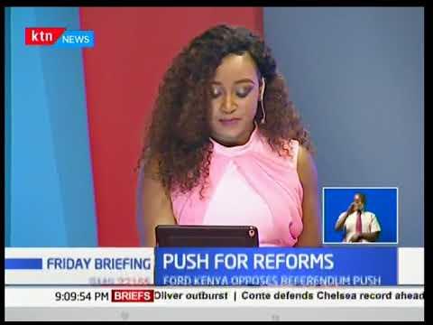 Ford Kenya party leader Moses Wetangula opposes Raila Odinga's push for reforms