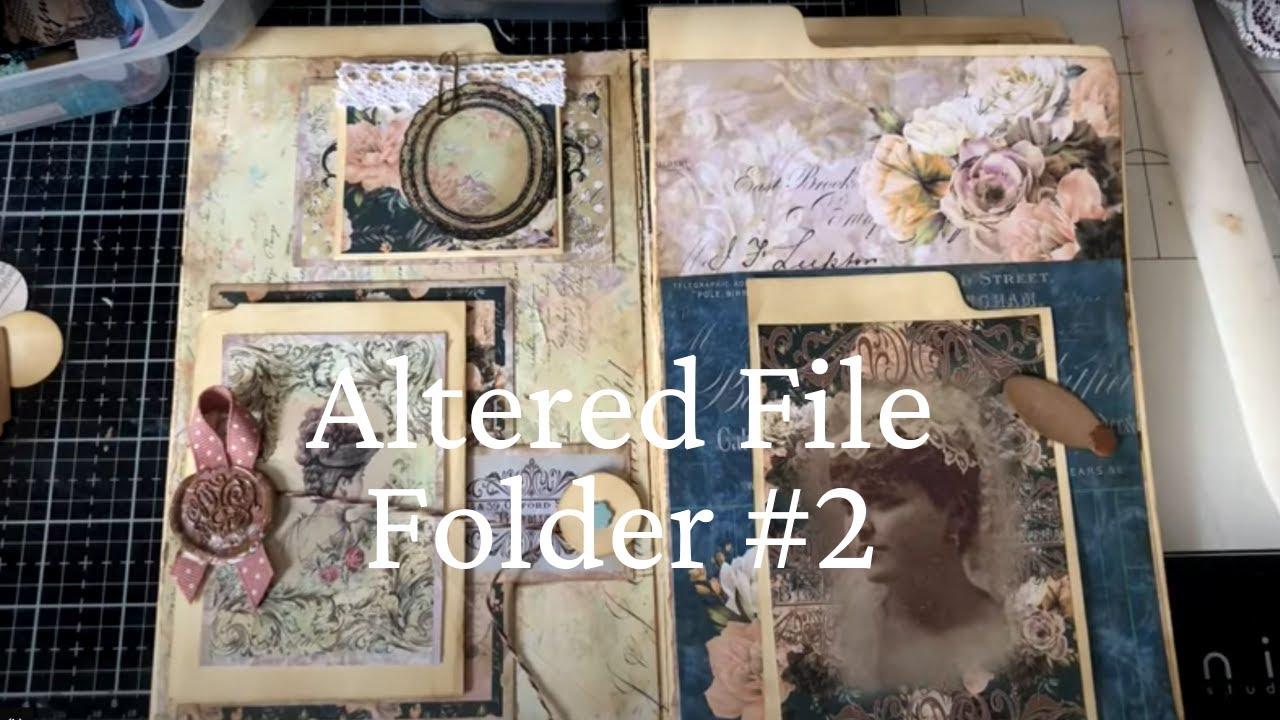 Melrose Garden Junk Journal Kit + Altered File Folder Pt 2