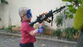 Playing Toy Guns For 4 Year Olds