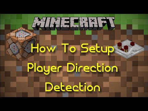 How To Setup Player Direction Detection | Minecraft Command Block Tutorial