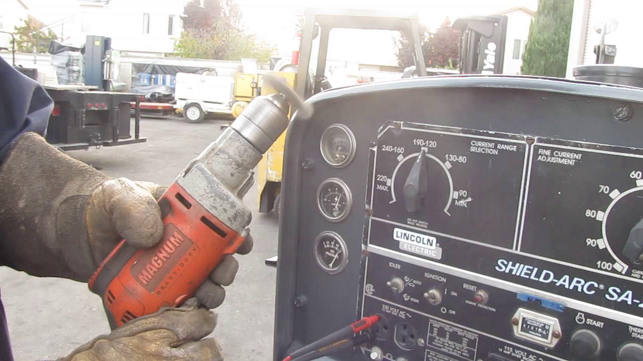 lincoln shield arc sa 250 welder trailer 250 amp perkins diesel engine generator [ 1280 x 720 Pixel ]