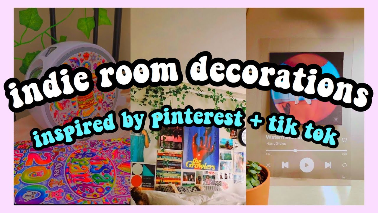 Decorating My Room Like A Cool Indie Girl From Pinterest Tiktok Aesthetic Bedroom Decor Youtube