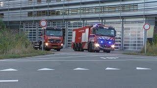 Prio1 Brandweer Amstelveen [ ASV2 BBC SB ] rukken uit naar brand gebouw IJ-Tunnel Amsterdam