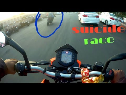 STREET RACE|||Duke 200 vs Duke 250|||SUICIDE RACE😱