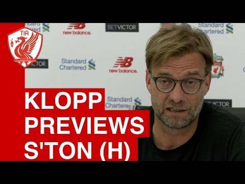 Jurgen Klopp Pre-Match Press Conference: Liverpool vs. Southampton