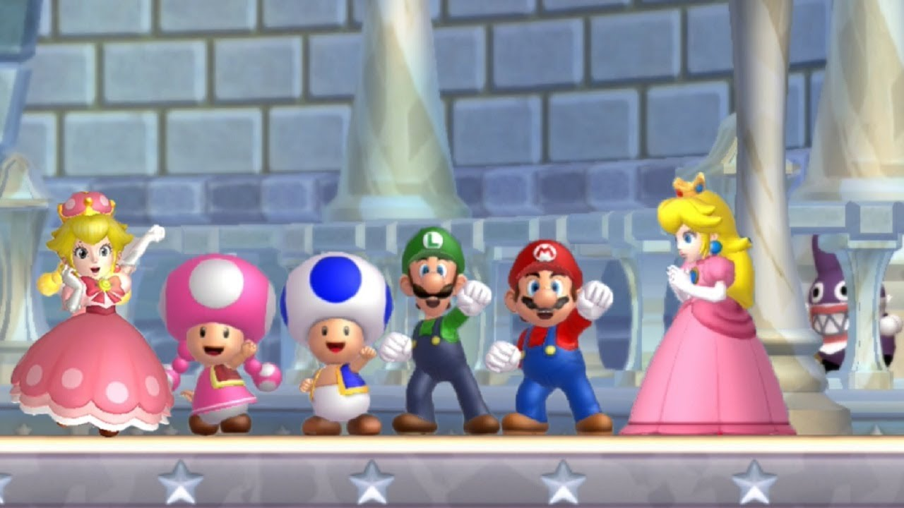 super mario bros u deluxe switch characters