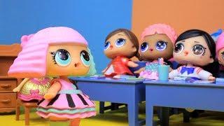 LOL Surprise Куклы #ЛОЛ Мультик УБОРЩИЦА Про школу Игры для Девочек Сюрпризы с Лалалупси Вероника