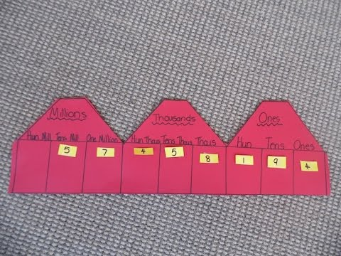 Make A Place Value Chart Youtube