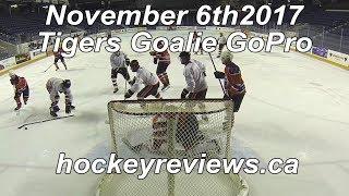 November 6th 2017 Tigers Hockey Goalie GoPro