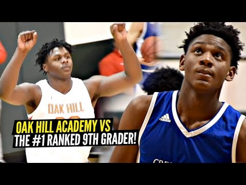 The #1 9th Grader vs Oak Hill Academy!! How GOOD Is Oak Hill This Year!?