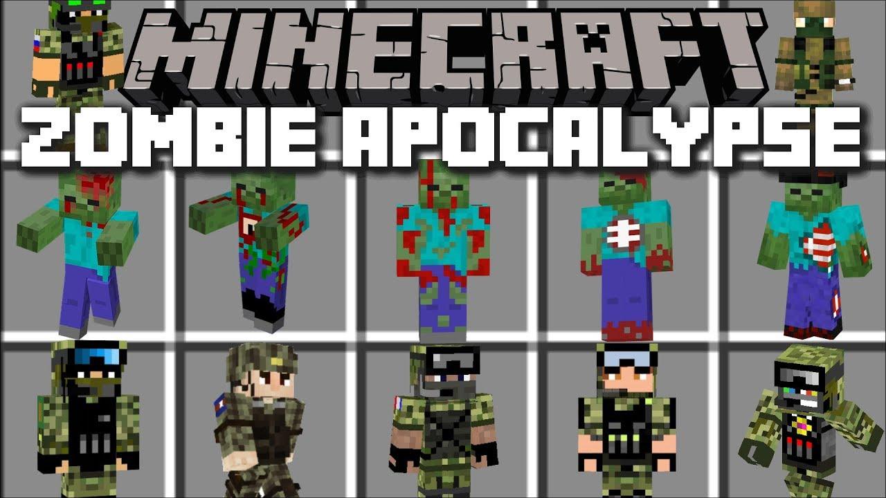Minecraft ZOMBIE APOCALYPSE MOD / DEFEND AND FIGHT OFF EVIL
