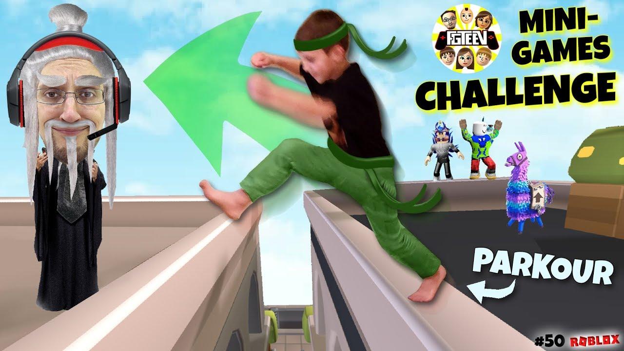 Parkour Ninjas Challenge Fgteev Roblox 50 Youtube