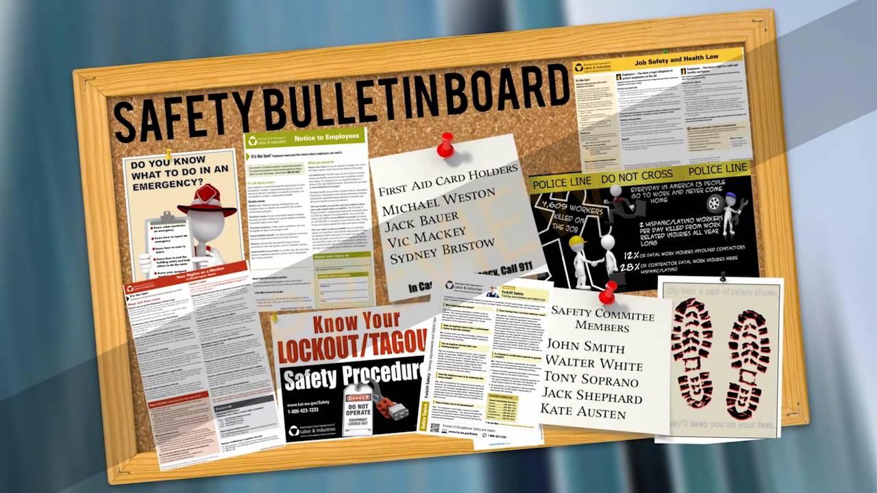 Safety Bulletin Board - YouTube