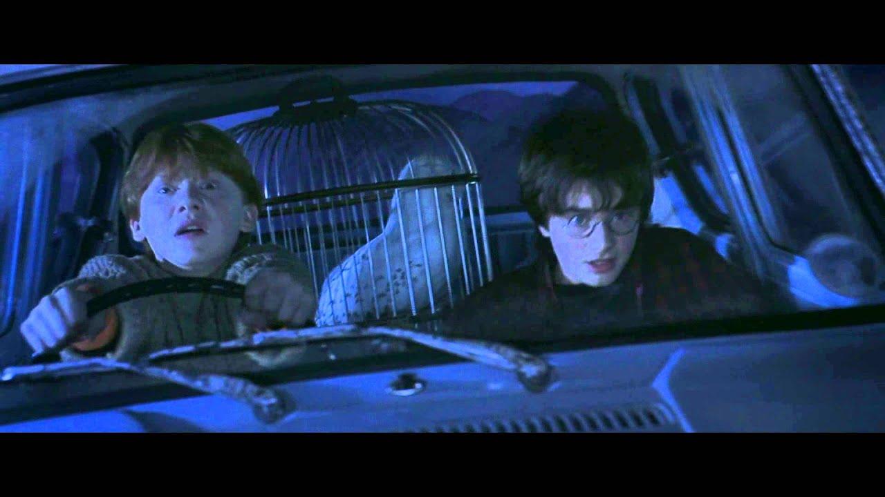 Harry potter 2 voiture volante sc ne culte youtube for Chambre harry potter