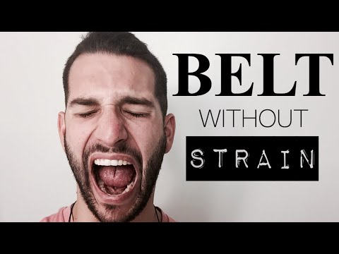 How To Belt High Notes Without Strain