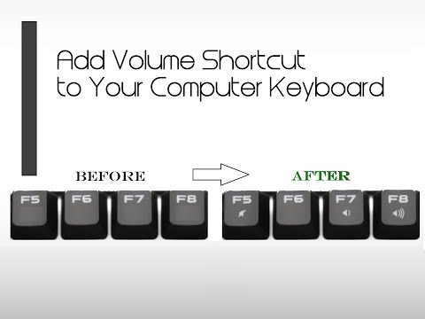 ✔ How to Add Volume Shortcut to Your Computer Keyboard