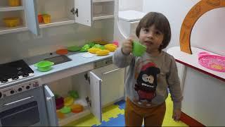 pratik oyun, beyazıt oyun parkında oynuyor, cooking game playing