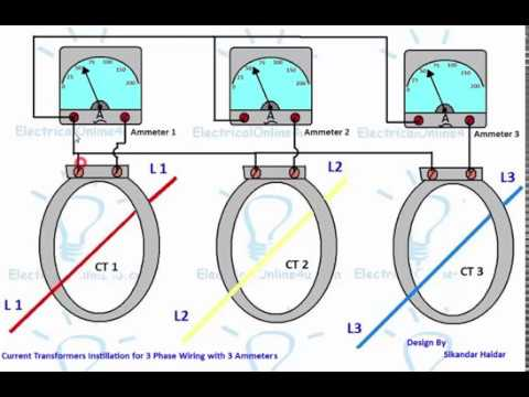CT Installation For 3 Phase With Ammeters Hindi  Urdu