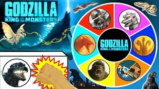 GODZILLA KING OF THE MONSTERS Spinning Wheel Slime Game w/ NEW GODZILLA MOVIE TOYS