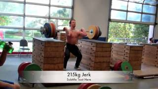 Donny Shankle Goes Big And Cleans And Jerks 215kg!!!
