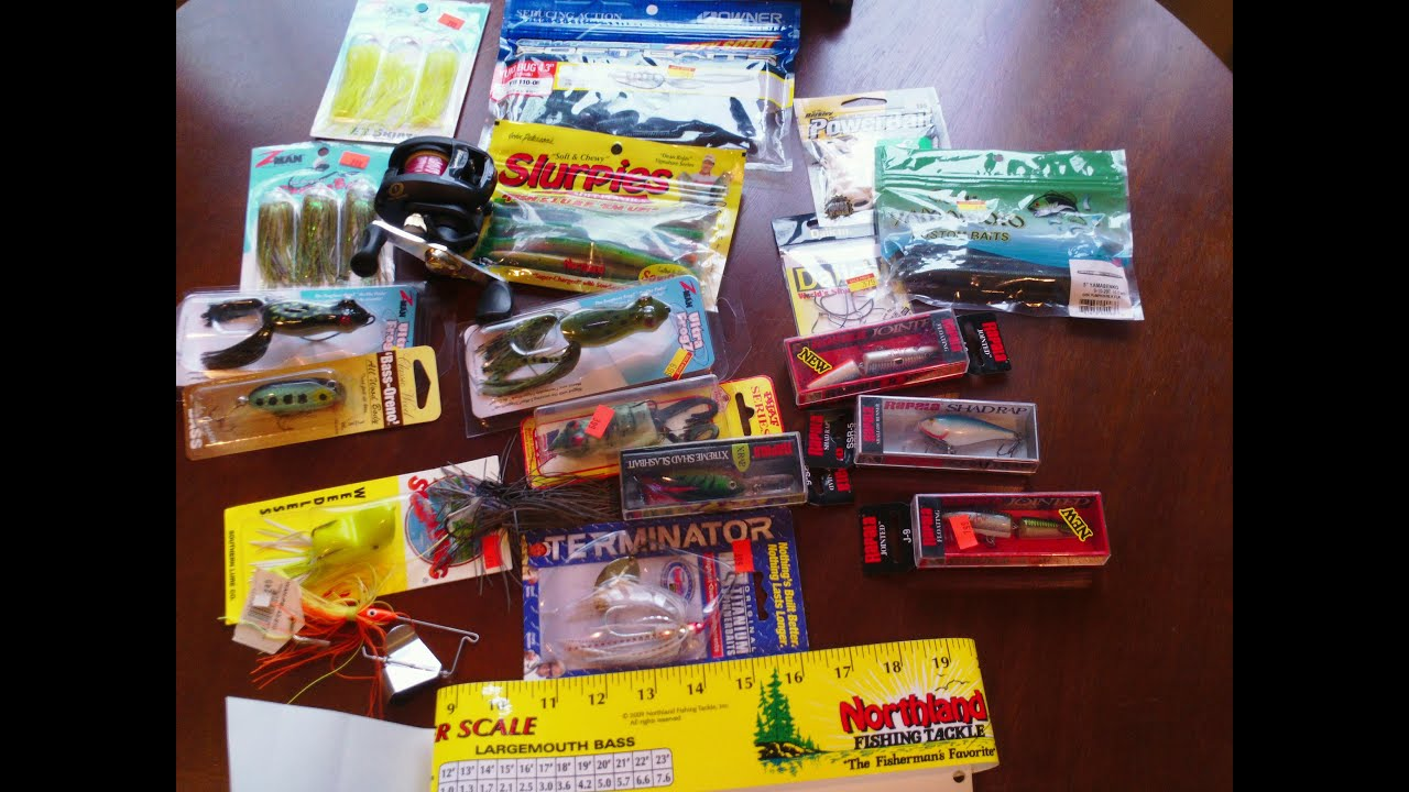 Huge fishing tackle unboxing bass frogs rapala for Bass fishing gear