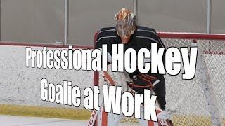 Watch a Professional Hockey Goalie at Work at Practice, 10/16/17