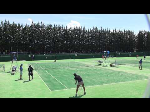 6日 テニス女子シングルス 会津総合運動公園8コート 九州文化学園×浦和麗明 1回戦3