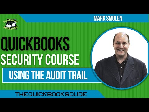 QuickBooks Security - Audit Trail
