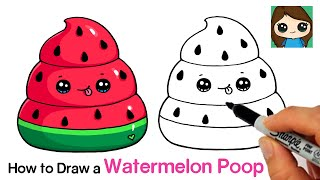 How to Draw a Watermelon Poop Squishy