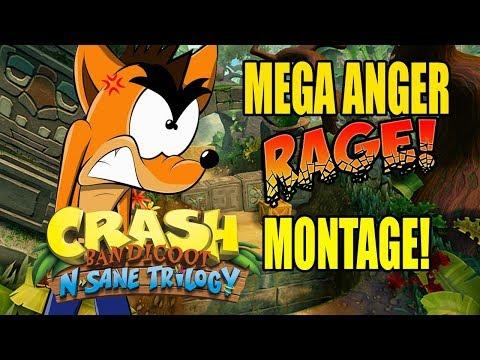 TRUE SALTY ANGER! Crash Bandicoot N Sane Trilogy Rage Montage!