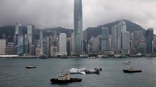 Plastikmaus im Hafen von Hongkong