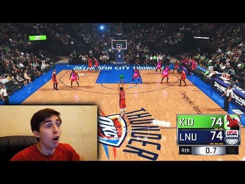 STEPHEN CURRY HALF COURT GAME WINNER AT THE BUZZER! NBA 2K17