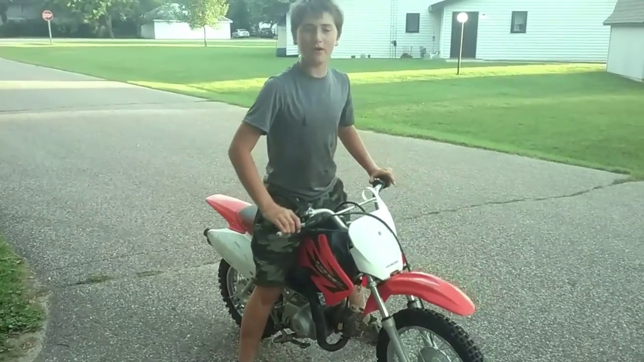Honda crf70 top speed!! - YouTube
