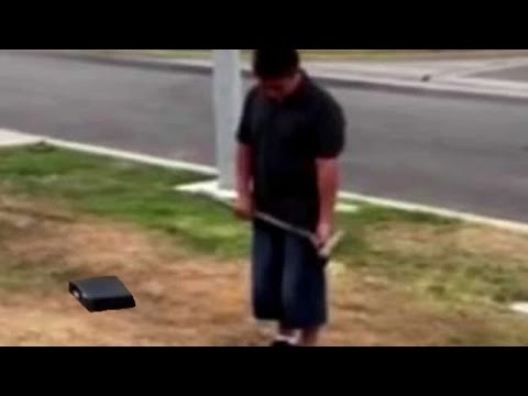 Dad Forces Son To Destroy XBOX Video Game Console