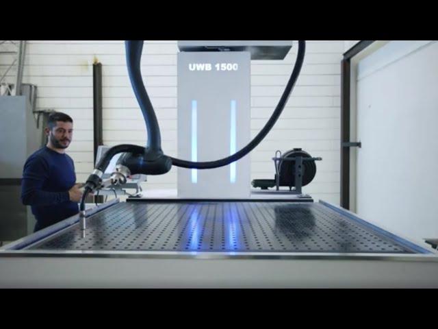 Postazioni modulari di saldatura SERIE UWB per INDUSTRIA 4.0 con cobot Doosan Robotics