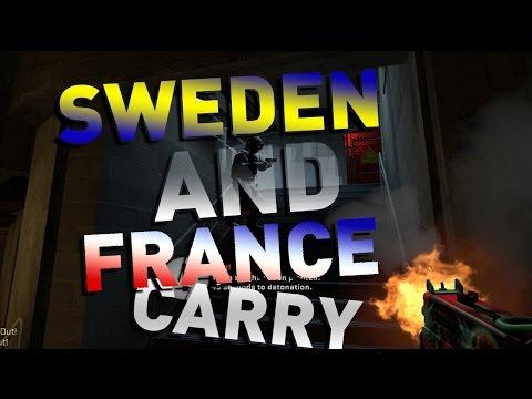 Sweden And France Carry  - CS GO 5v5 Live Com