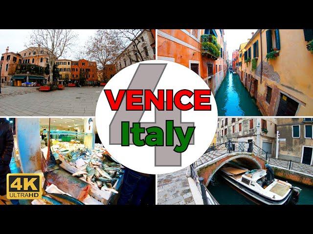 Venice, Italy Walking Tour Part 4 (4K/60fps)